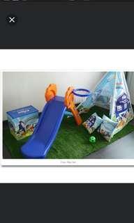 Playground, slide, rocker, tent, pillows, Friso set