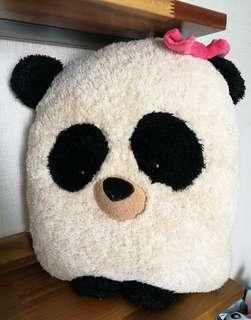 Fluffy Panda Stuffed Plush Toy Couple Girl