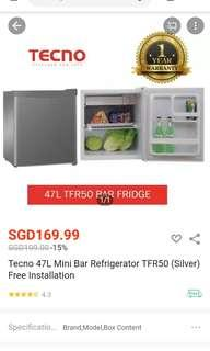 Tecno 47L TFR50 small refrigerator/bar fridge