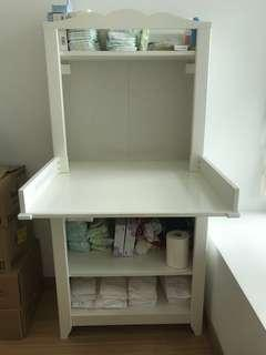 Ikea Bookshelf and changing table