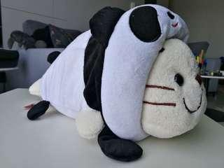 Seal Plush Stuffed Toy with Panda Costume