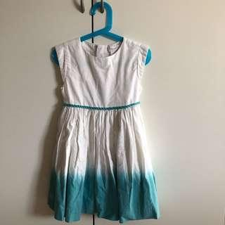 🚚 Chateau de stable White and Blue Dress (Size 4 for 4 year old)