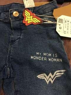 Zara Wonder Woman牛仔褲 2-3歲