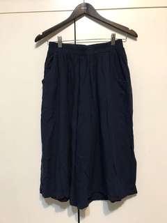 🚚 深藍色寬褲#十月女裝半價