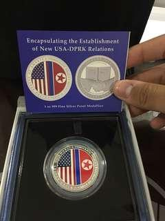 USA-DPRK Silver Medallion