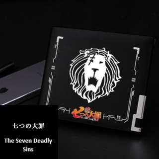 Seven Deadly Sins Premium Leather Steel Frame Anime Wallet