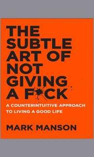 EBOOK the subtle art of not giving a fuck by mark manson