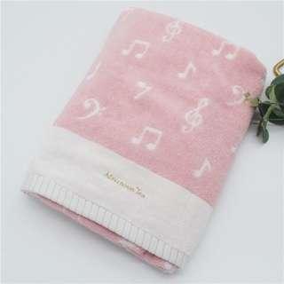 日本 afternoon tea 🎀 浴巾 毛巾 衣巾 towel 音符 圖案 大毛巾 全新 日單 日系
