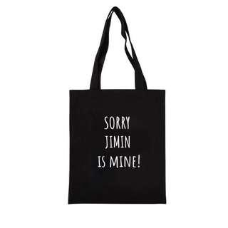 [PO] BTS 'sorry this *member* is mine' tote Bag