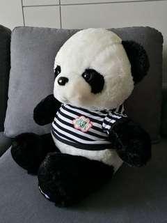 Mama Fluffy Soft Panda with T-shirt