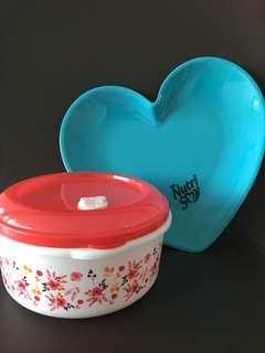 (BN) Plastic Container & Plate