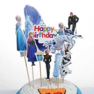 New frozen cake topper birthday cake decorations party