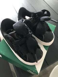 Puma Basket Heart Toddler Shoes