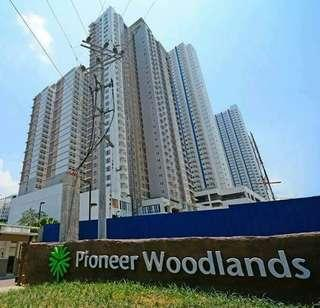 Pioneer Woodlands Rent to own condo 2BR 50sqm Gilmore Katipunan Kamias Aurora Santolan Greenhills Ortigas Mandaluyong Shaw Boni Taft Buendia MRT LRT Moa Pasay Taguig BGC Mckinley C5 Manila Santa Mesa airport