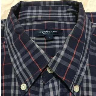 Burberry 經典深藍色格紋襯衫