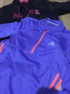 Nike Jacket and Adidas for running