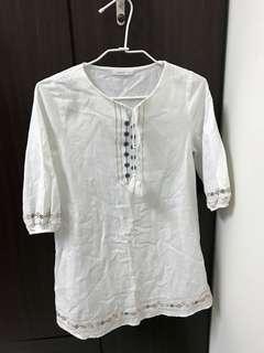 🚚 Pazzo 白色洋裝S號