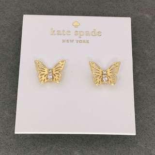 Kate Spade Sample Earrings 金色蝴蝶結閃石耳環
