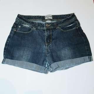 TYTE JEANSWEAR - Size 14 - Dark Blue Denim Shorts