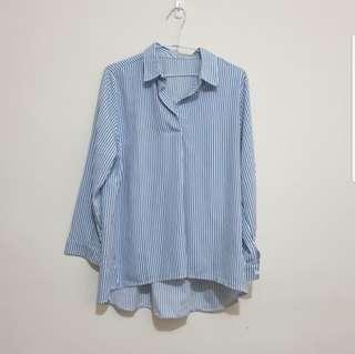 🚚 條紋長袖襯衫