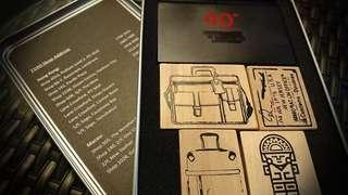 NEW Tumi 40th Anniversary Wooden Stamps Boxset