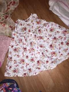 Cotton floral tea dress size 1