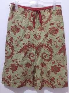 Floral Chinese-Inspired A-Line Skirt