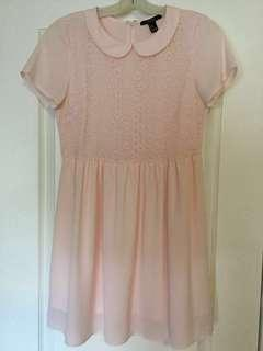 Forever 21 Women's pink scoop-neck dress. Size M, Medium. Ladies/Girls/Teens. Brand new! Never worn.