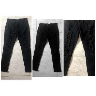 Tettered ripped pants L 30-32