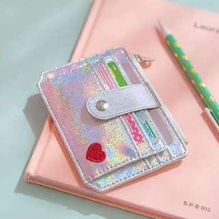 PO ulzzang holographic card holder