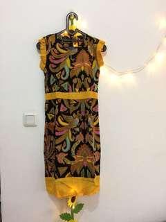 Dress Yellow Batik