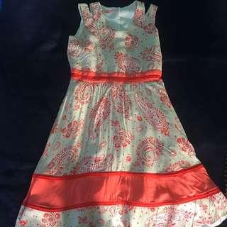 FLORAL ORANGE DRESS