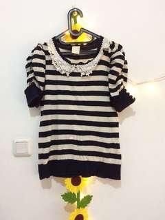 Knit Navy Stripes