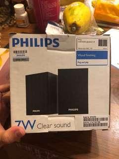 philips speaker 原價180 特價$40 usb 99新