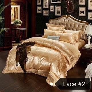 🚚 Bedsheet set / free delivery / 4 pieces set / wedding