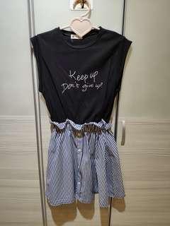 🚚 正韓-條紋洋裝