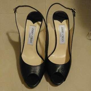 Jimmy Choo Slingback 黑色高踭鞋 Size 38 碼