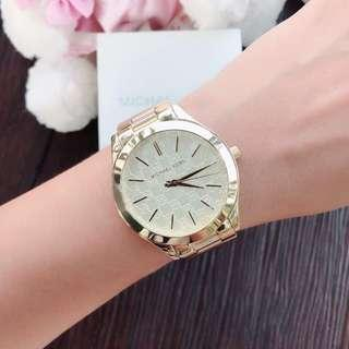 MK SLIM RUNWAY GOLD AUTHENTIC WATCH