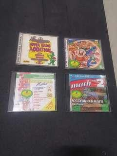 PC CDROM : Maths for kids (4 Titles)
