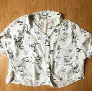 Bershka Puppy Shirt