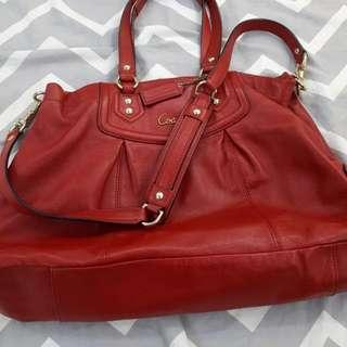 Authentic Coach Preloved Carryall bag Raspberry color