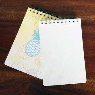 Little Pineapple Spiral Grid Notepad A5