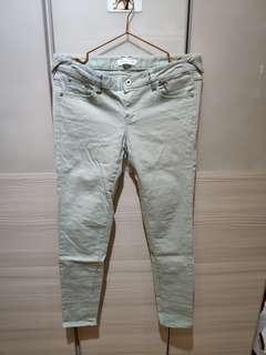 🚚 正韓-棉質長褲(淡綠)