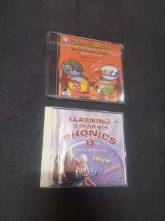 Free : VCDs & PC CDROM (Phonics, English & Maths)