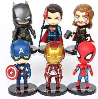 New Marvel Avenger cake topper decorations figurines toys accessories car super heroes