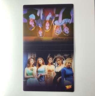 少女時代 Yes! Card 第42期 偶像兩張卡簿