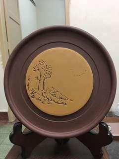Chinese Purple Clay teapot tray-landscape design