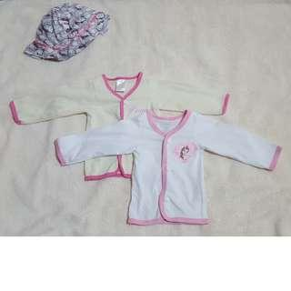 Baby Girl: Button down long sleeved sleepwear
