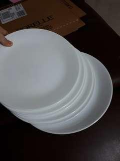 corelle glass dinner plates winter frost white 6pcs