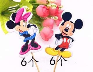 New EVA sponge thick cupcakes decorations topper cake birthday mickey minnie mouse
